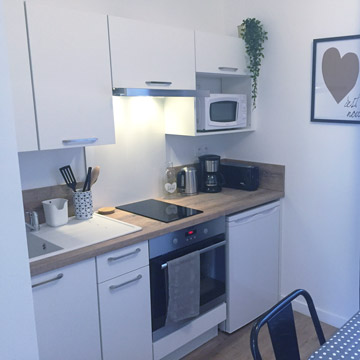 Studio Agapanthe meublé - Cuisine équipée - Location Dax