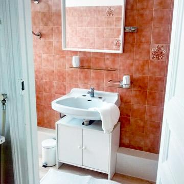 Studio Citron - Salle d'eau meublée avec miroir - Location Dax