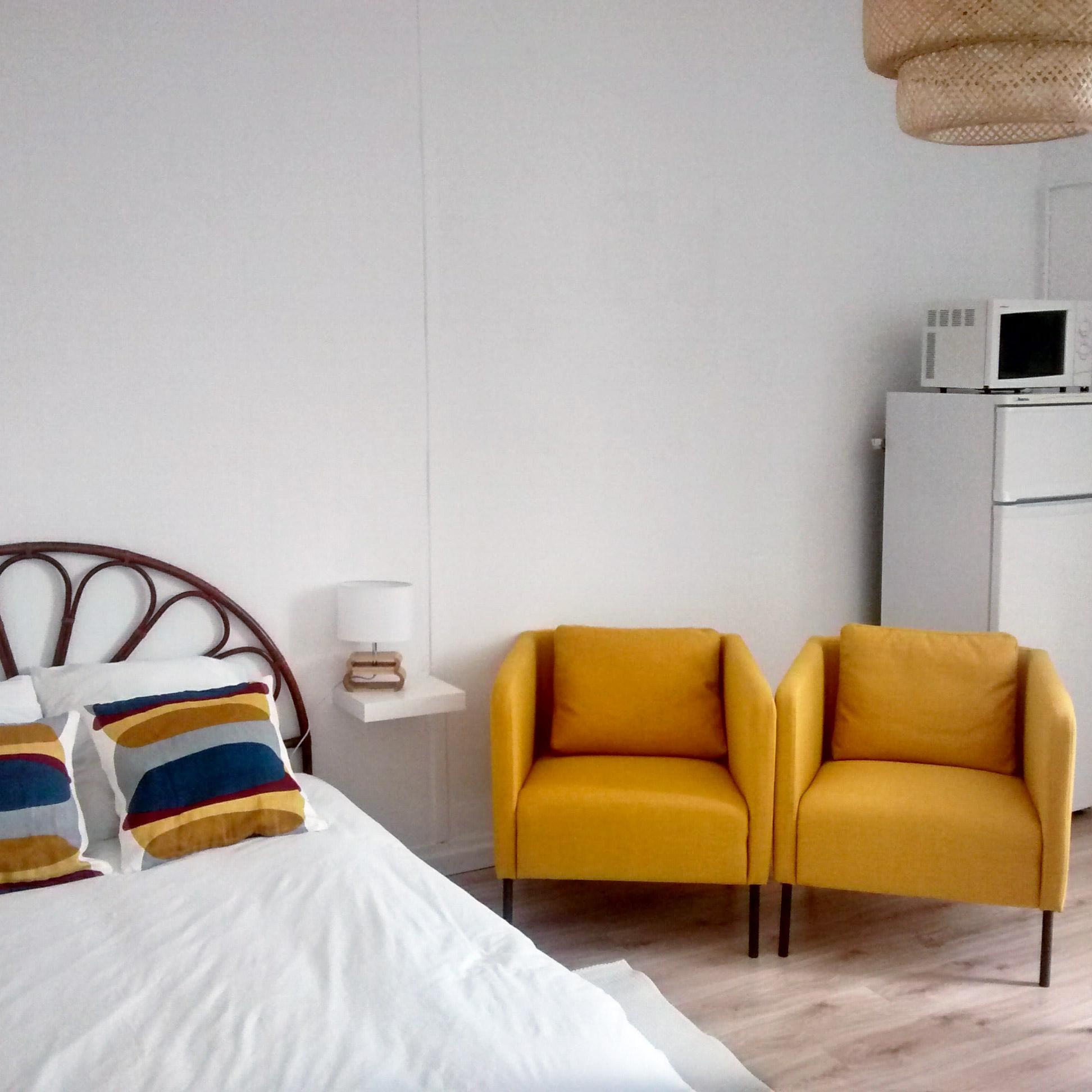 Studio Citron - Salon meublé équipé - Location Dax