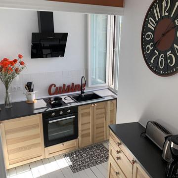 Studio Coquelicot - Cuisine équipée four - Location Dax