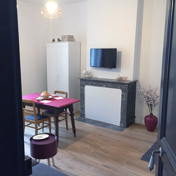 Studio Prune - Entrée appartement à louer - Dax