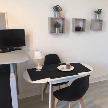 Studio Violette meublé, équipé à louer - Dax